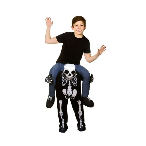 Childrens Carry Me- Skeleton Costume Unisex Halloween Fancy Dress